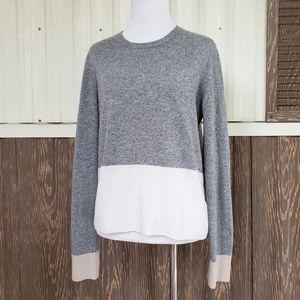 Equipment crewneck sweater gray 100% cashmere M